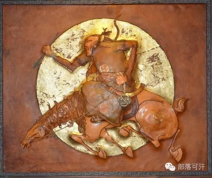 蒙古族皮画皮雕艺术欣赏 第4张