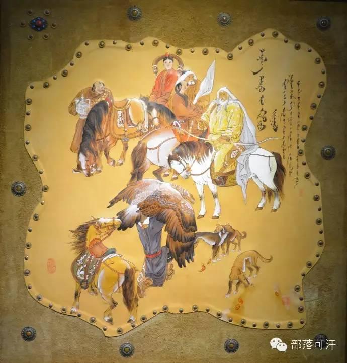 蒙古族皮画皮雕艺术欣赏 第5张