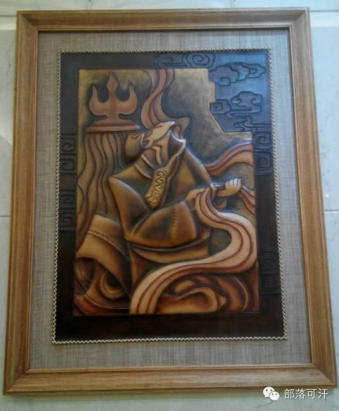 蒙古族皮画皮雕艺术欣赏 第14张