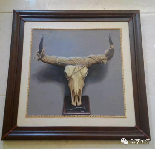 蒙古族皮画皮雕艺术欣赏 第18张