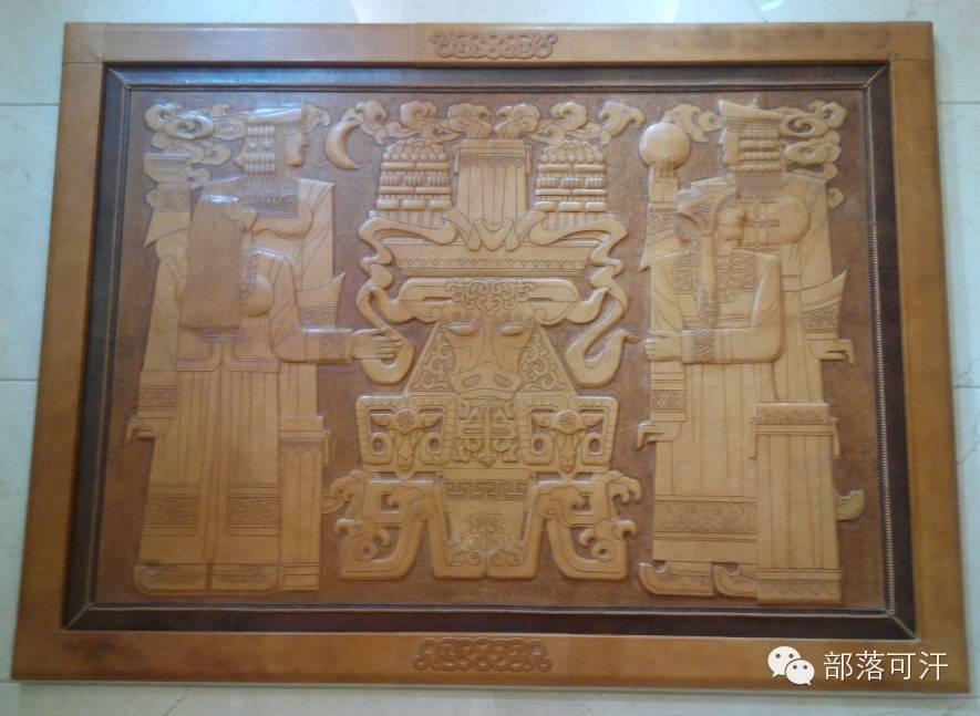 蒙古族皮画皮雕艺术欣赏 第22张