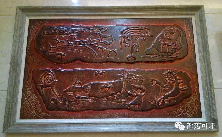 蒙古族皮画皮雕艺术欣赏 第21张