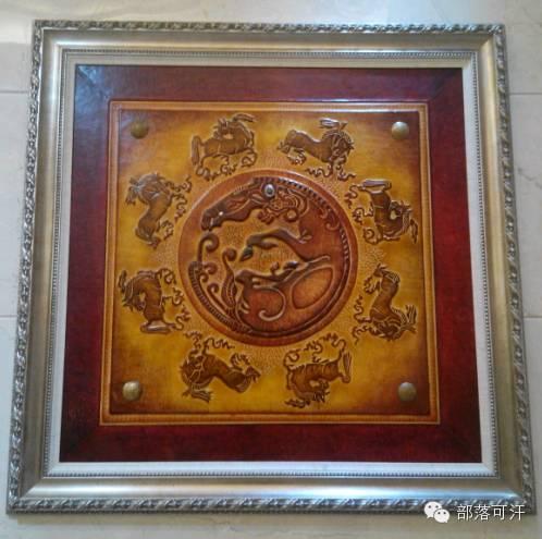 蒙古族皮画皮雕艺术欣赏 第28张