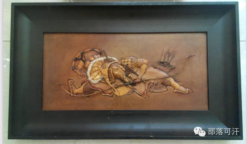 蒙古族皮画皮雕艺术欣赏 第27张