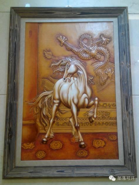蒙古族皮画皮雕艺术欣赏 第31张