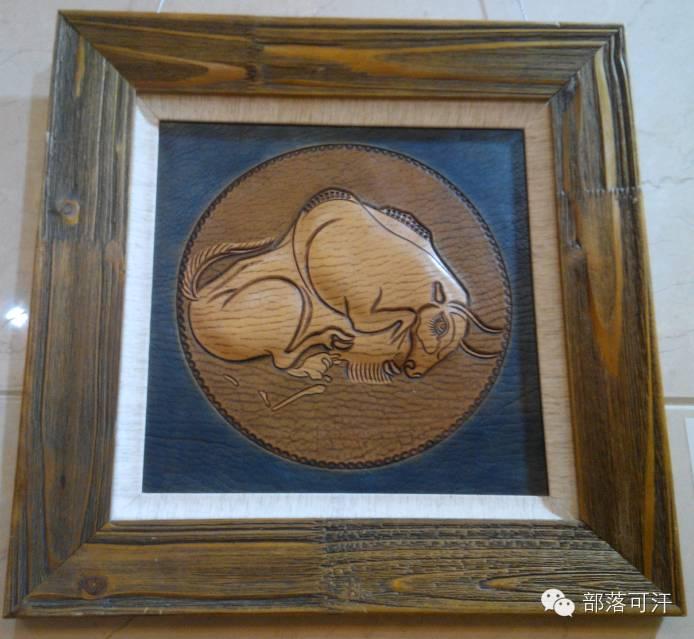 蒙古族皮画皮雕艺术欣赏 第36张