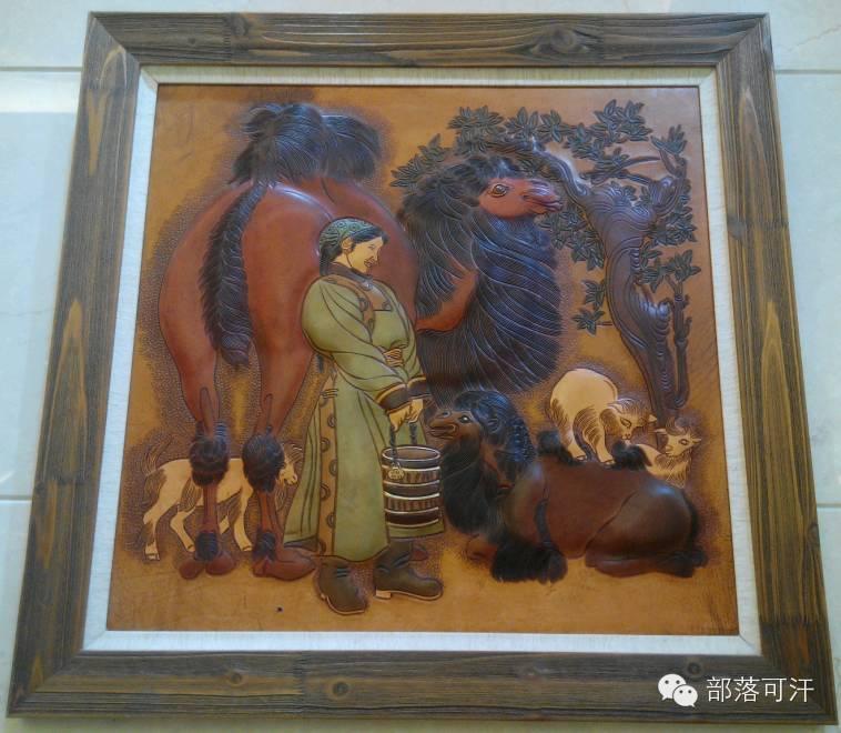 蒙古族皮画皮雕艺术欣赏 第39张