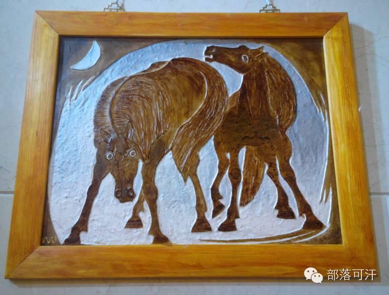 蒙古族皮画皮雕艺术欣赏 第47张
