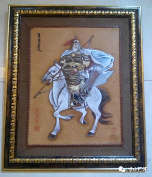 蒙古族皮画皮雕艺术欣赏 第48张