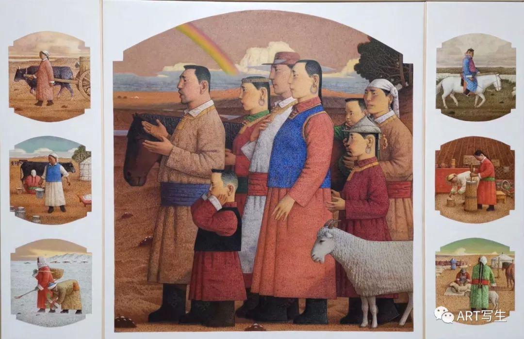 第十三届内蒙古自治区美术作品展览(油画作品) 第3张
