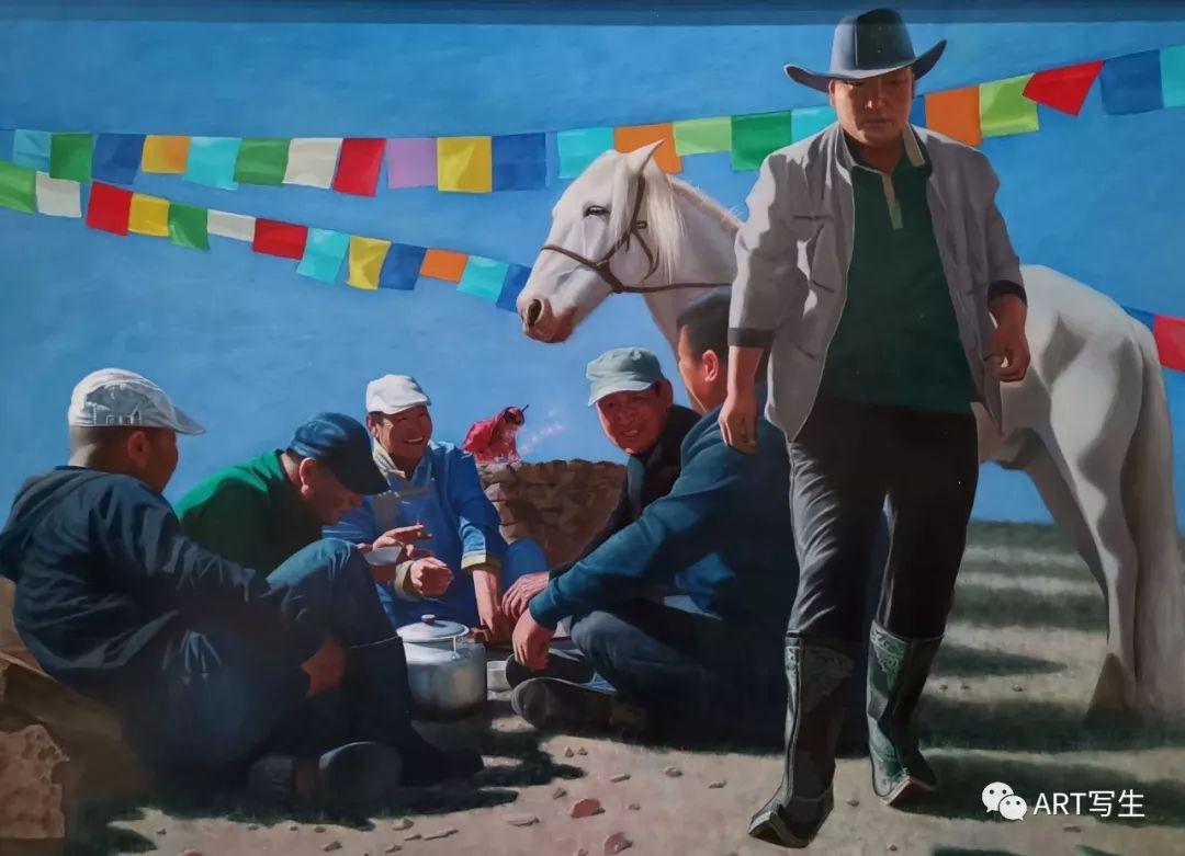 第十三届内蒙古自治区美术作品展览(油画作品) 第72张