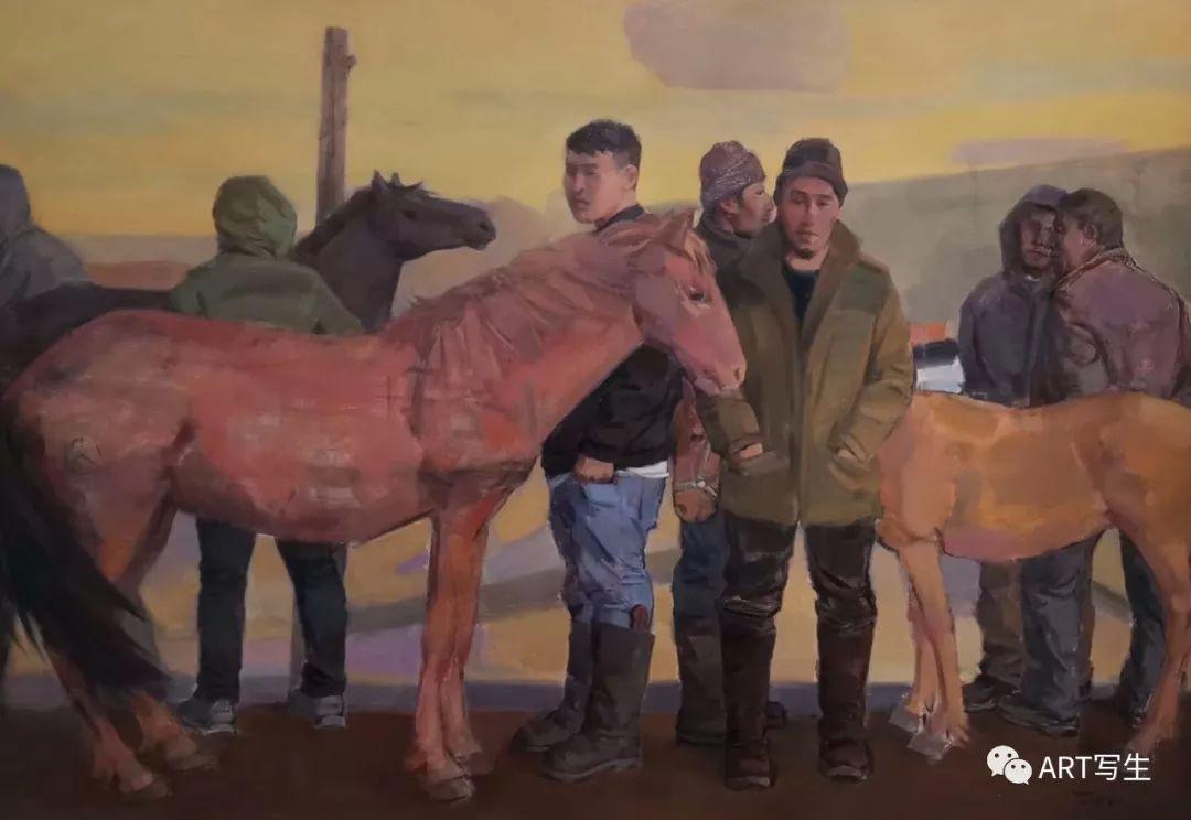 第十三届内蒙古自治区美术作品展览(油画作品) 第109张