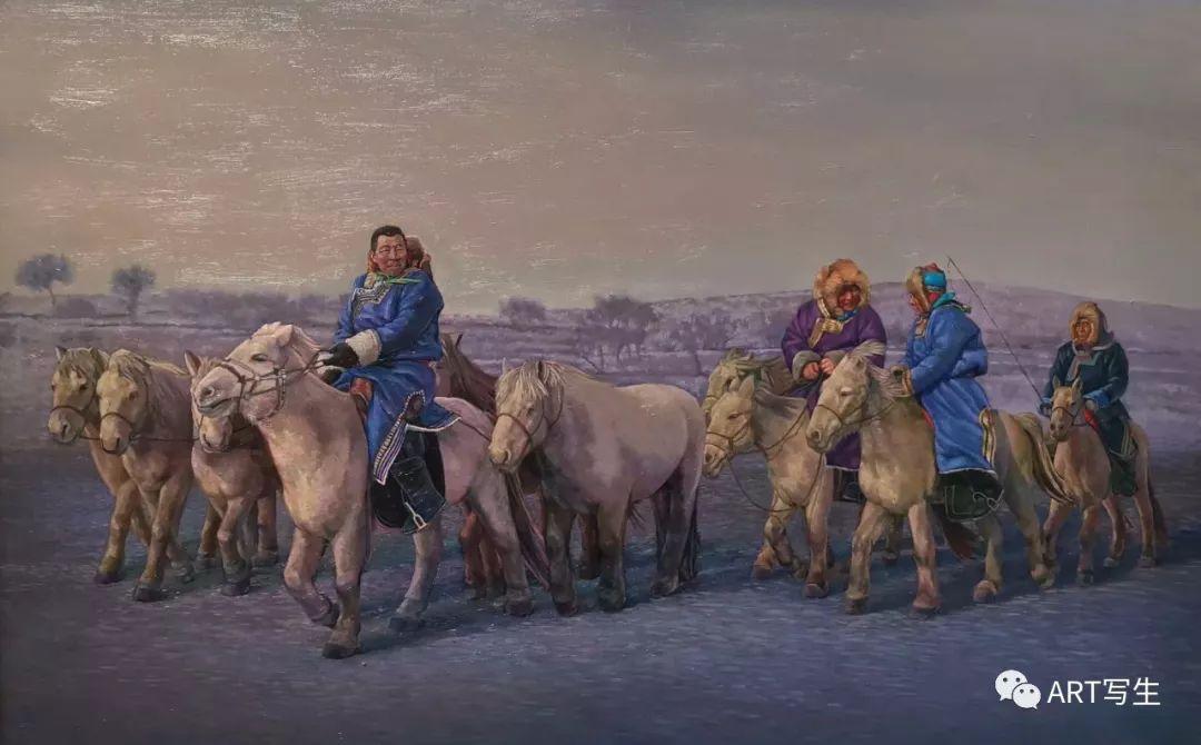 第十三届内蒙古自治区美术作品展览(油画作品) 第115张