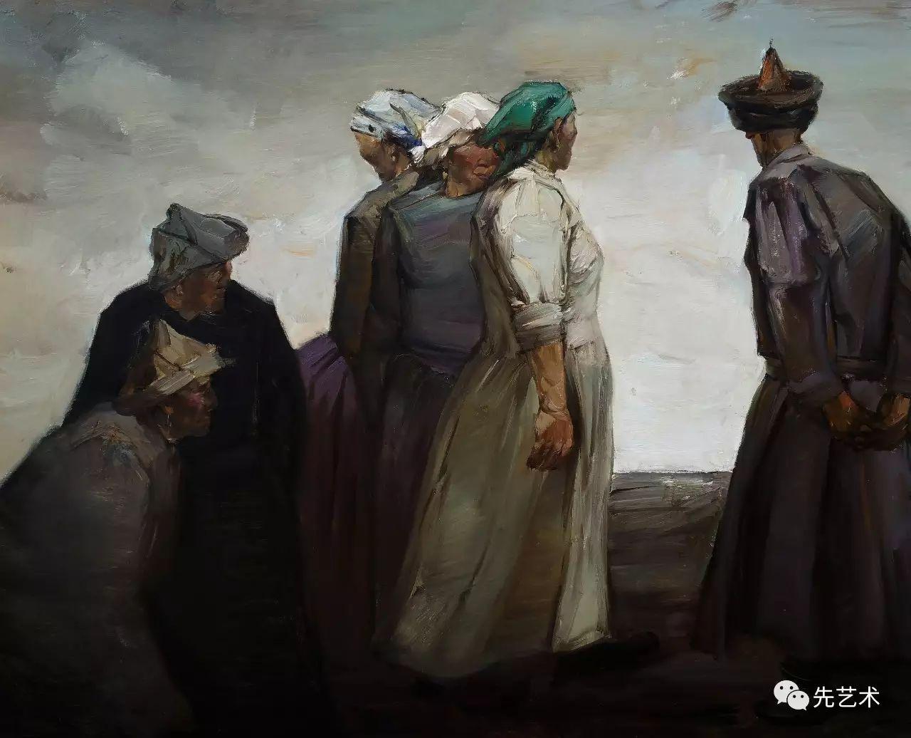 """""""在草原""""—王生凯2016内蒙古油画作品欣赏 第3张"""