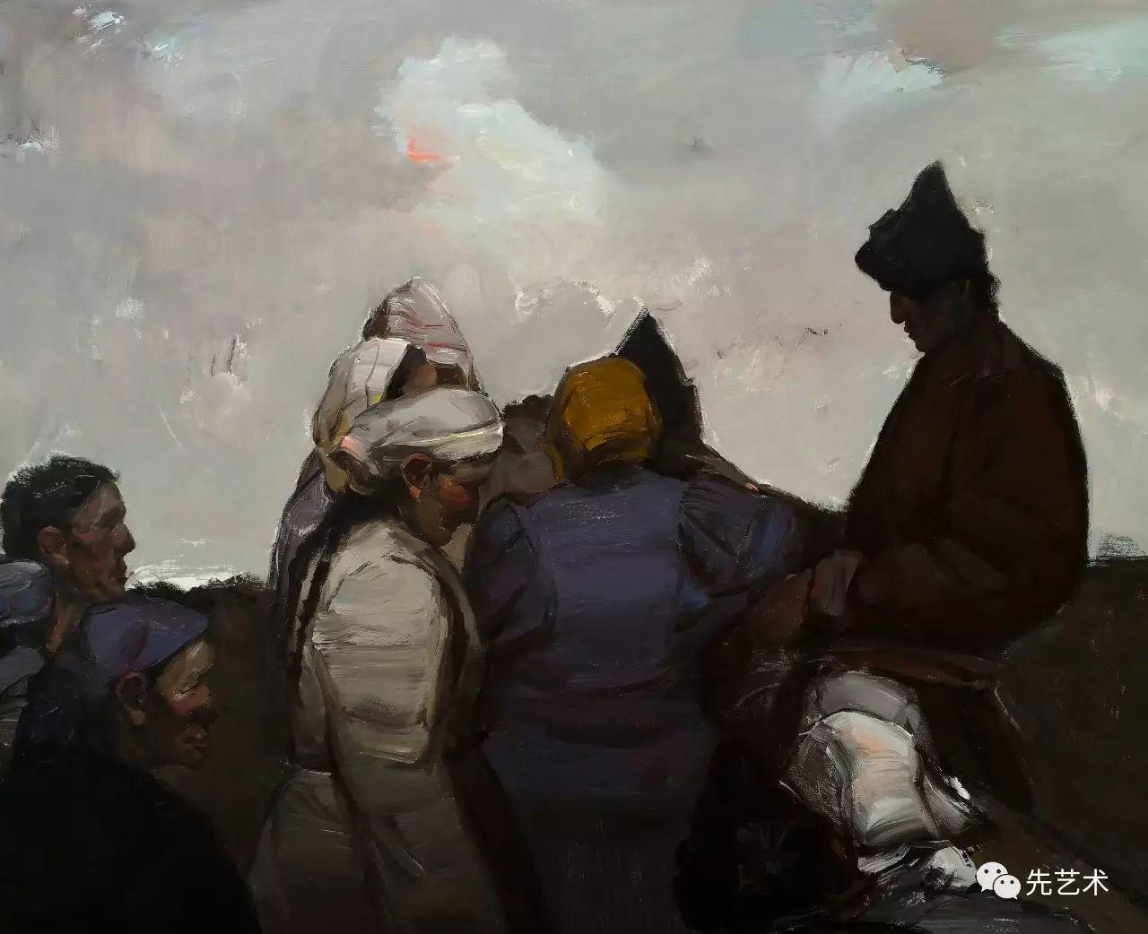 """""""在草原""""—王生凯2016内蒙古油画作品欣赏 第2张"""