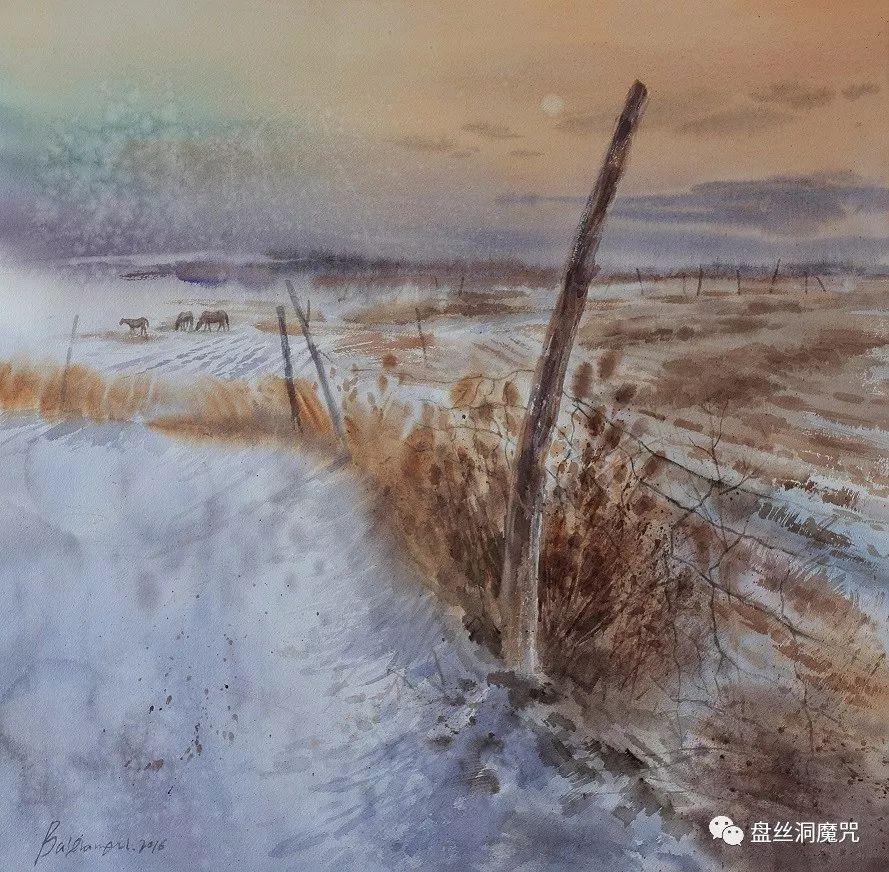 白连福水彩作品欣赏 第7张 白连福水彩作品欣赏 蒙古画廊