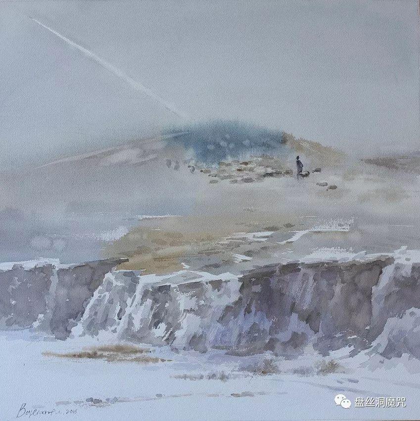 白连福水彩作品欣赏 第12张 白连福水彩作品欣赏 蒙古画廊