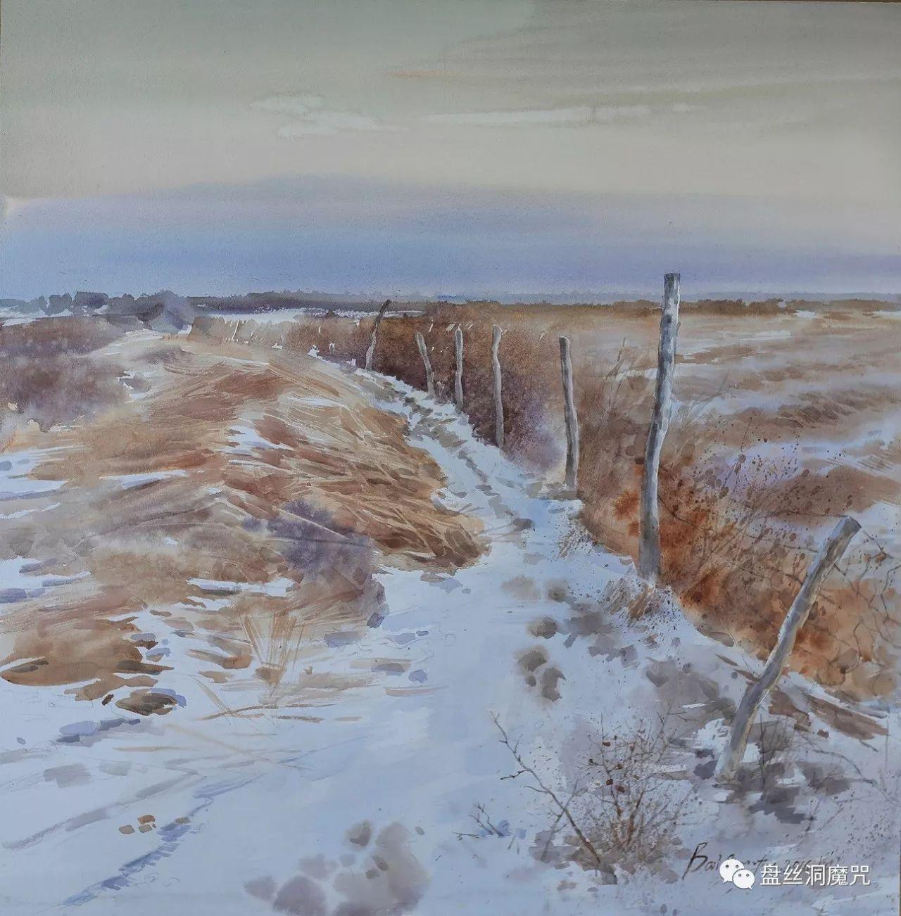 白连福水彩作品欣赏 第14张 白连福水彩作品欣赏 蒙古画廊