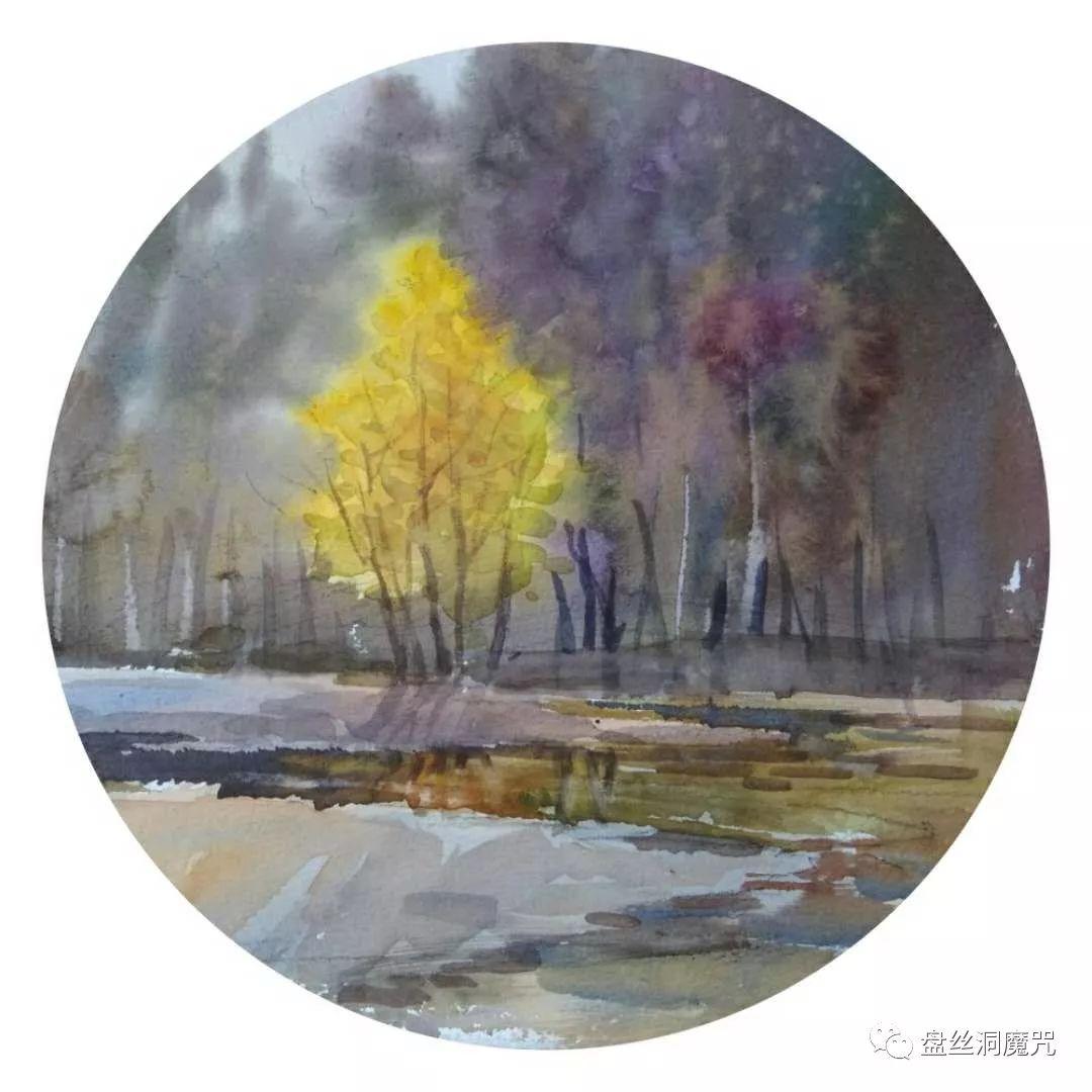 白连福水彩作品欣赏 第26张 白连福水彩作品欣赏 蒙古画廊