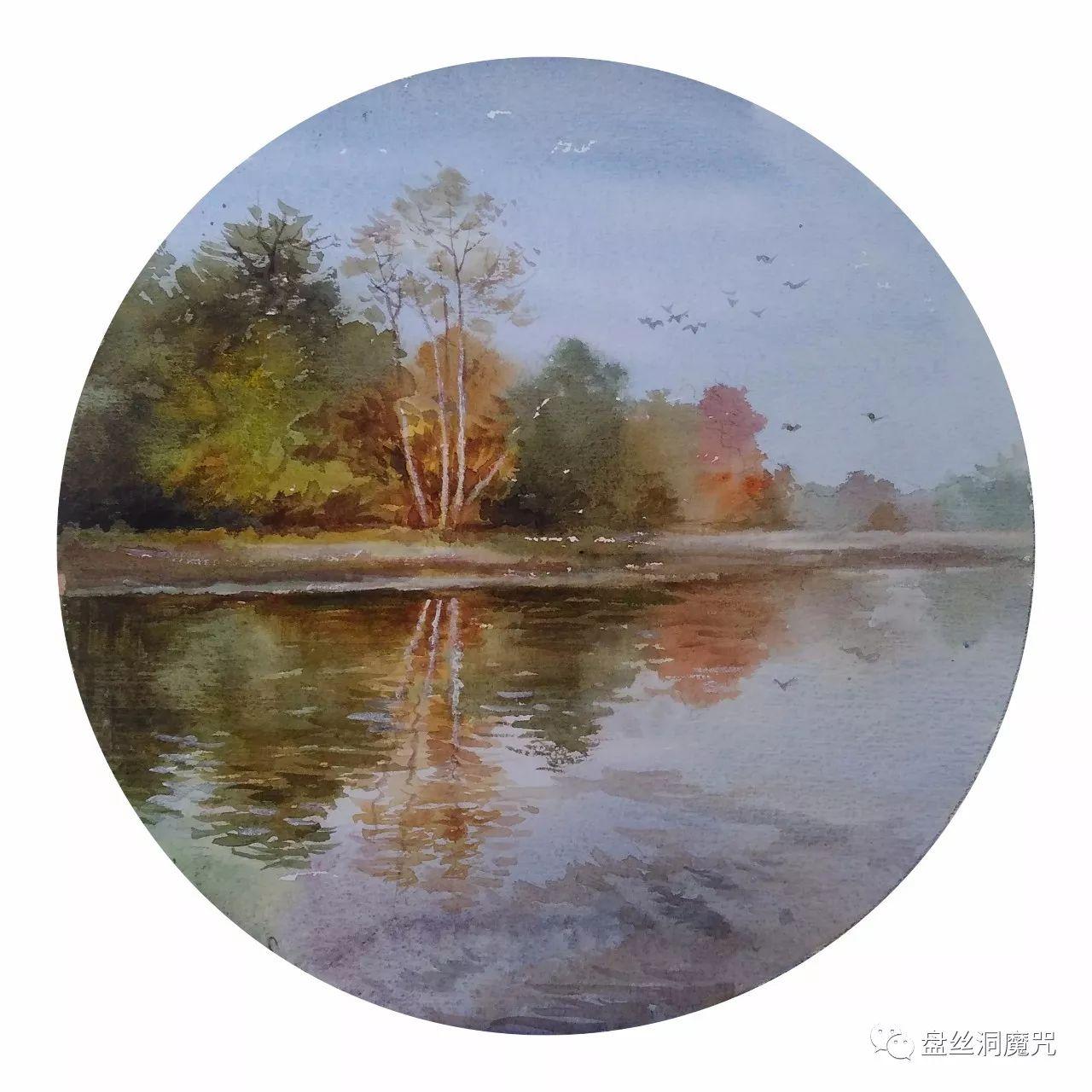 白连福水彩作品欣赏 第28张 白连福水彩作品欣赏 蒙古画廊