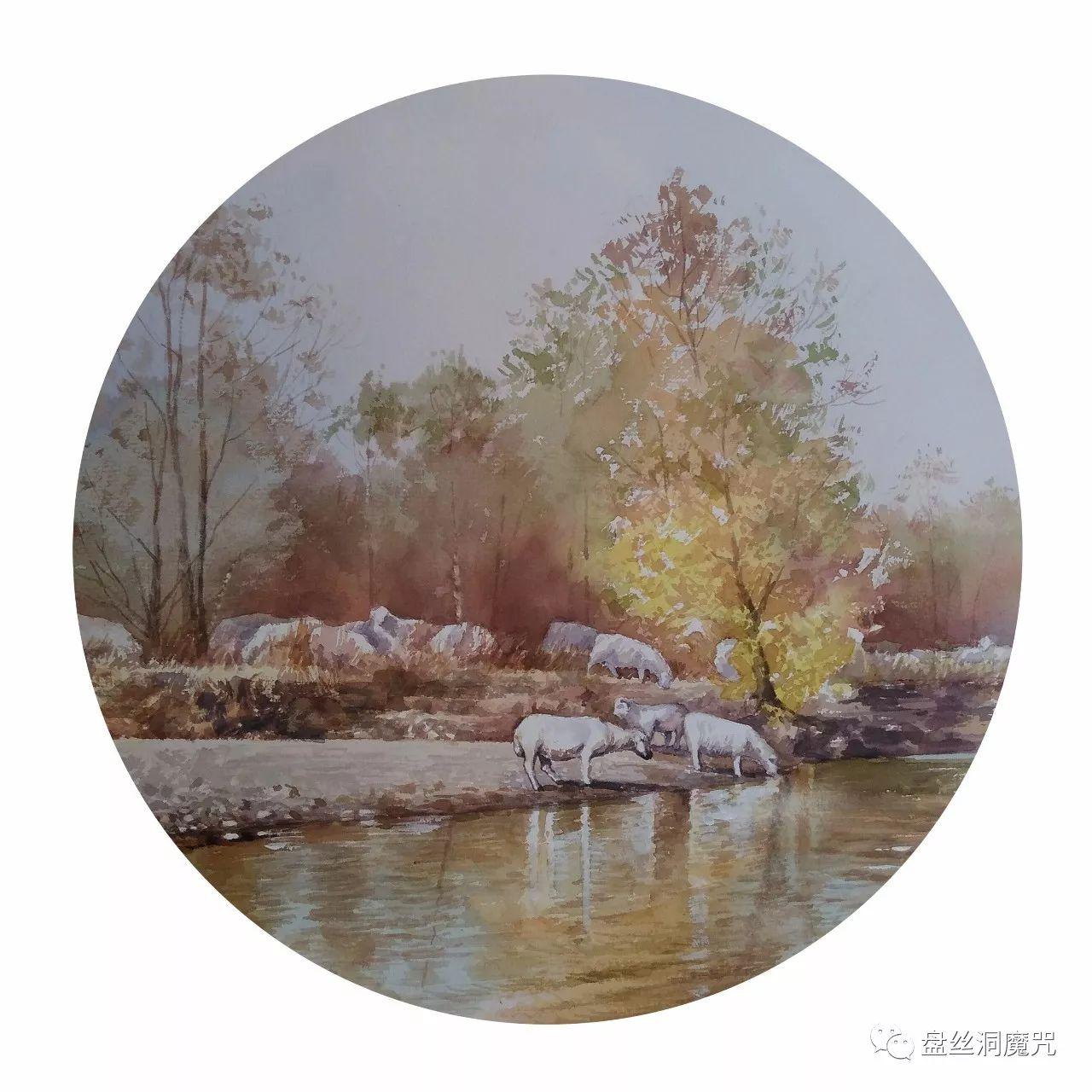白连福水彩作品欣赏 第30张 白连福水彩作品欣赏 蒙古画廊