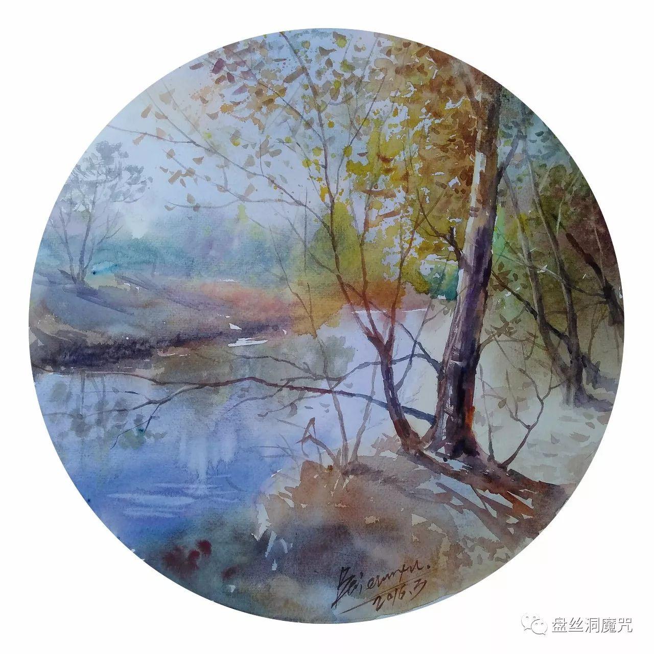 白连福水彩作品欣赏 第29张 白连福水彩作品欣赏 蒙古画廊