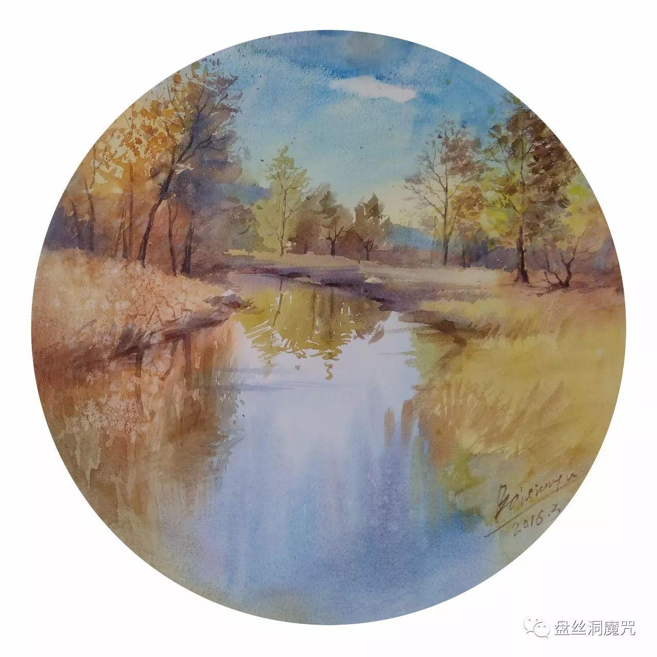 白连福水彩作品欣赏 第31张 白连福水彩作品欣赏 蒙古画廊