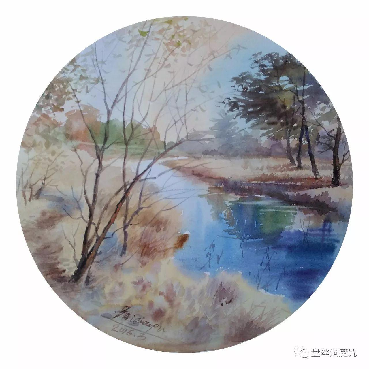 白连福水彩作品欣赏 第32张 白连福水彩作品欣赏 蒙古画廊