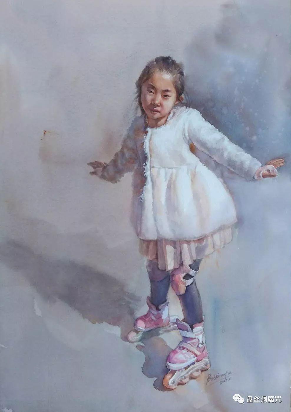 白连福水彩作品欣赏 第33张 白连福水彩作品欣赏 蒙古画廊