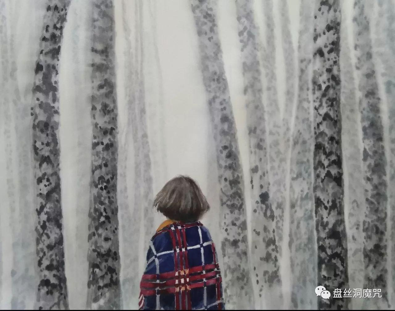 包金山水彩作品欣赏 第7张 包金山水彩作品欣赏 蒙古画廊