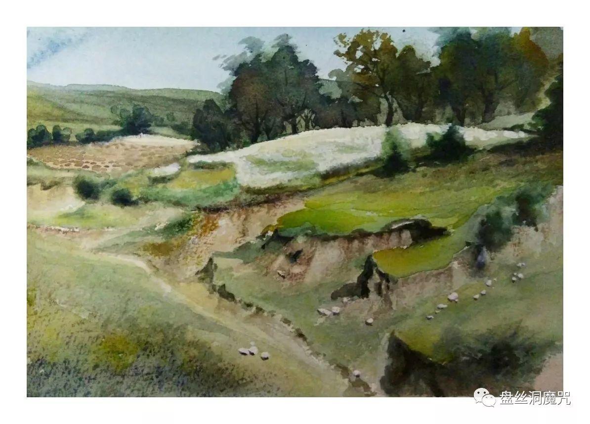 包金山水彩作品欣赏 第10张 包金山水彩作品欣赏 蒙古画廊