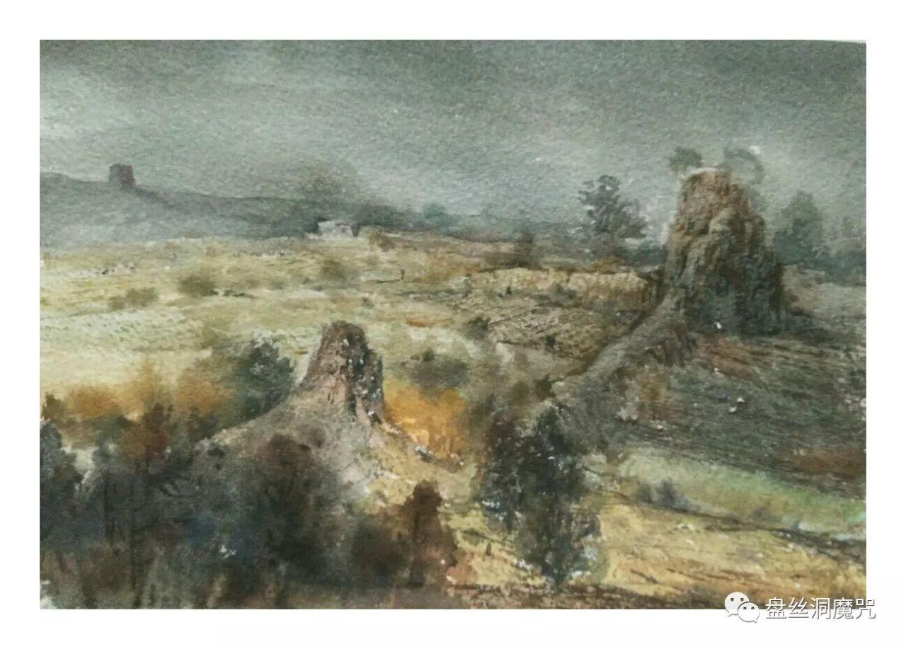 包金山水彩作品欣赏 第17张 包金山水彩作品欣赏 蒙古画廊