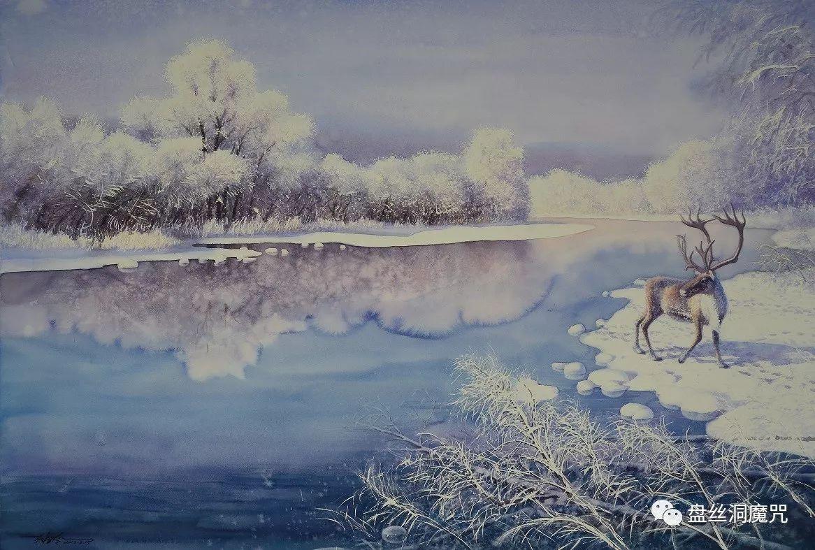林树岭水彩作品欣赏 第16张