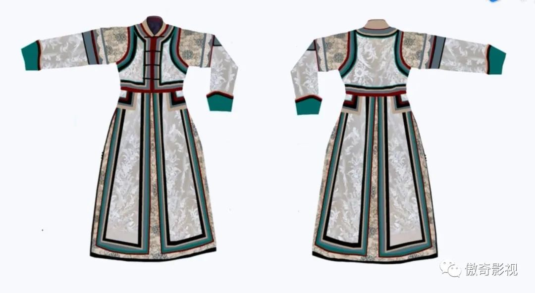 意大利海归设计新蒙古服 第2张