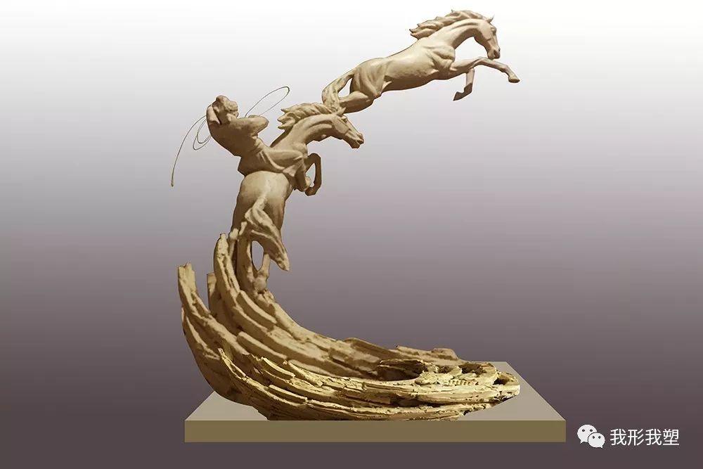 """【雕塑展览】庆祝中华人民共和国成立70周年""""蒙古马·雕塑·研究""""展 第22张 【雕塑展览】庆祝中华人民共和国成立70周年""""蒙古马·雕塑·研究""""展 蒙古画廊"""