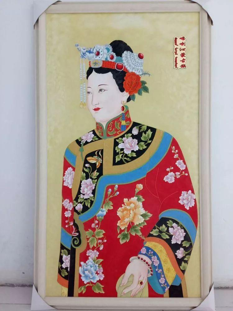 请您欣赏金丝彩岩手工艺作品——蒙古族部落妇女系列 第14张