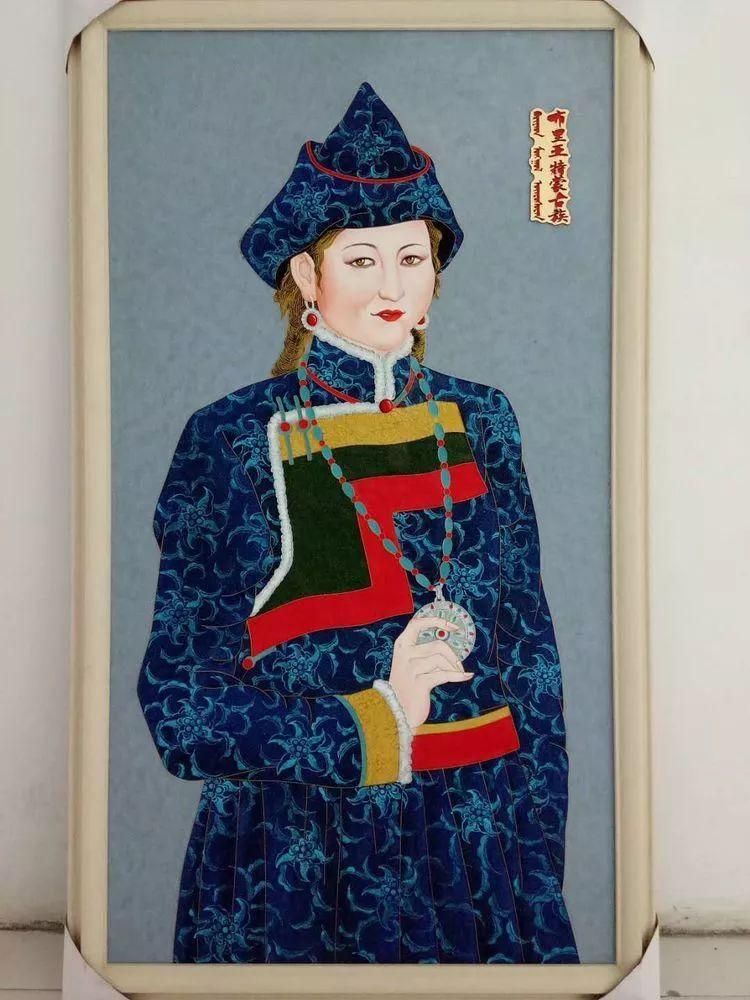 请您欣赏金丝彩岩手工艺作品——蒙古族部落妇女系列 第13张