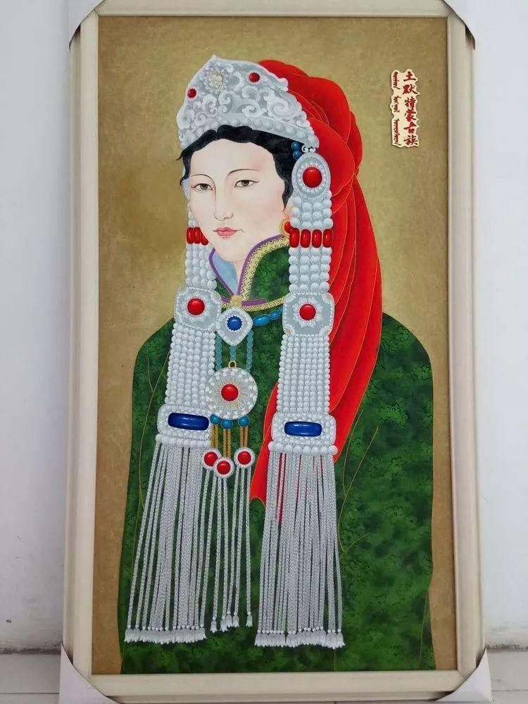 请您欣赏金丝彩岩手工艺作品——蒙古族部落妇女系列 第16张