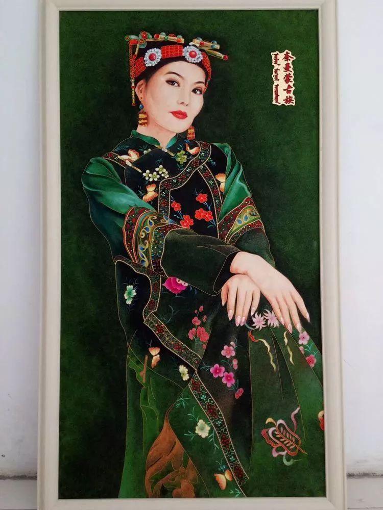 请您欣赏金丝彩岩手工艺作品——蒙古族部落妇女系列 第18张