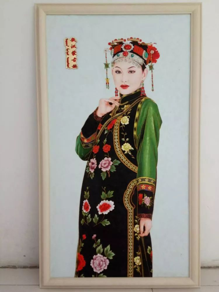请您欣赏金丝彩岩手工艺作品——蒙古族部落妇女系列 第21张