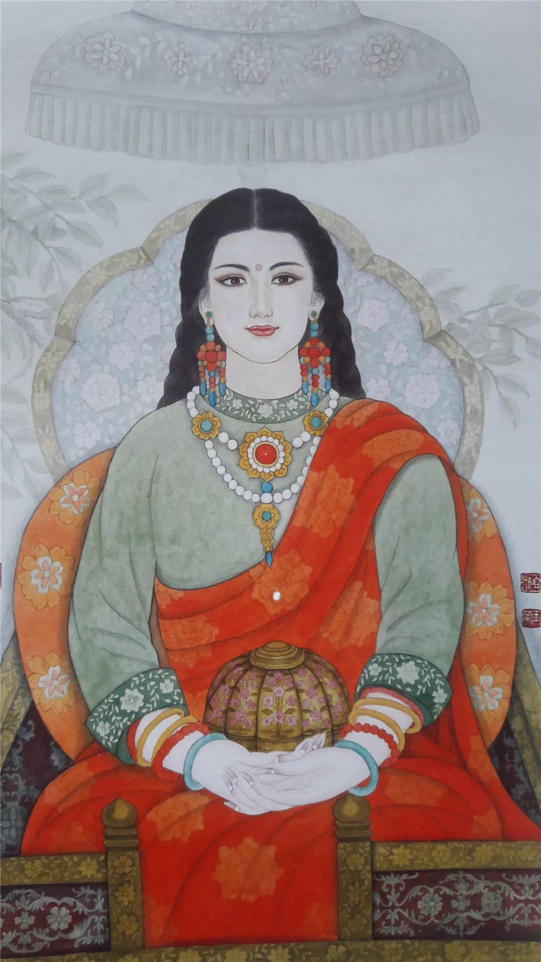 请您欣赏金丝彩岩手工艺作品——蒙古族部落妇女系列 第25张