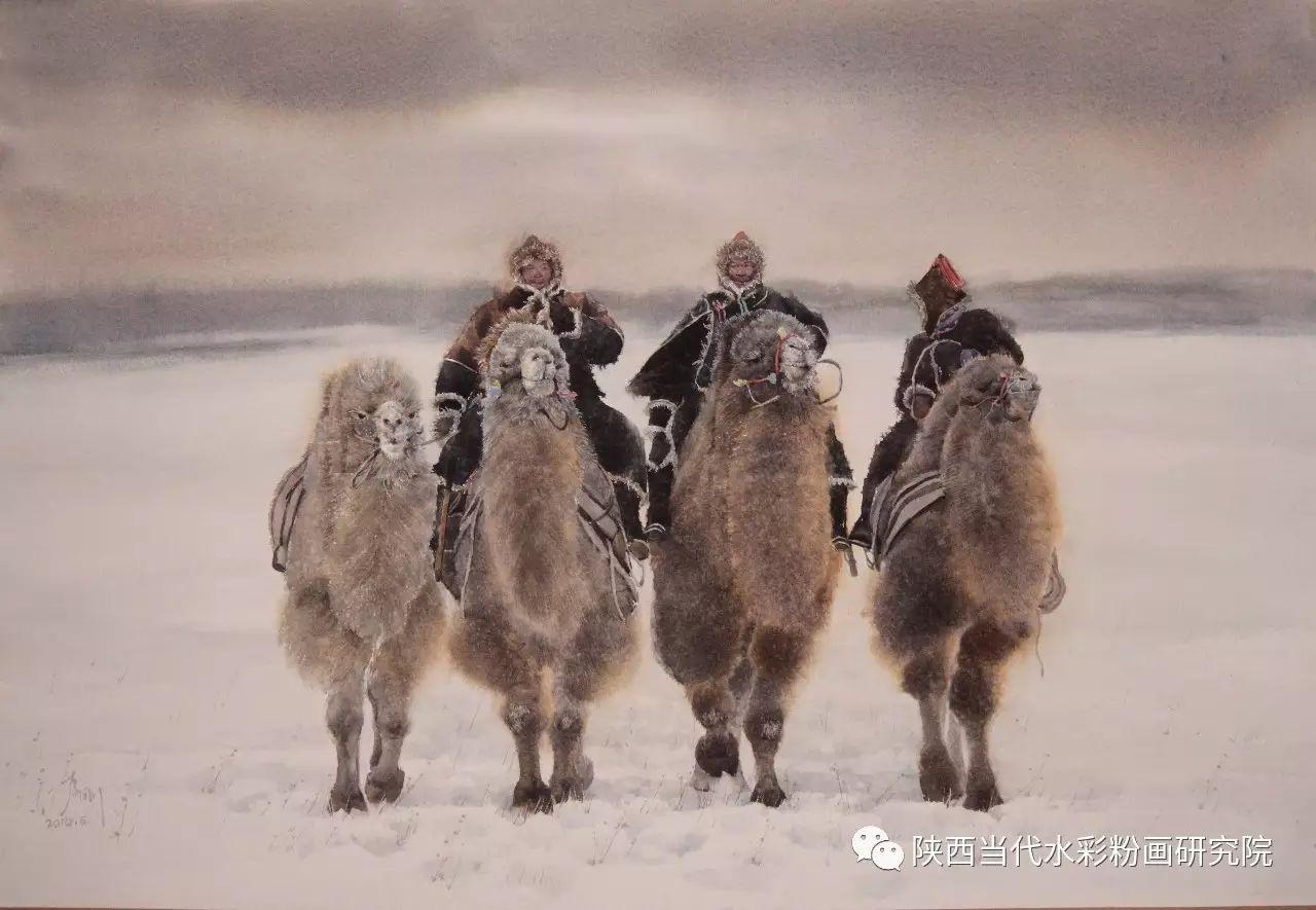 李刚(乌日根•达赉)作品   内蒙古艺术家水彩画作品专题微展第30集(总第1128期) 第5张