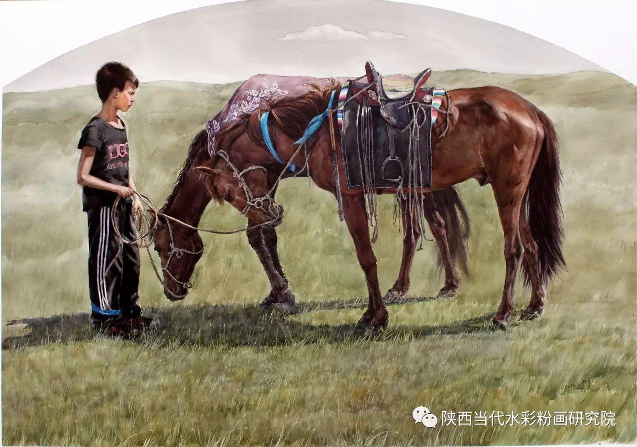 李刚(乌日根•达赉)作品   内蒙古艺术家水彩画作品专题微展第30集(总第1128期) 第7张