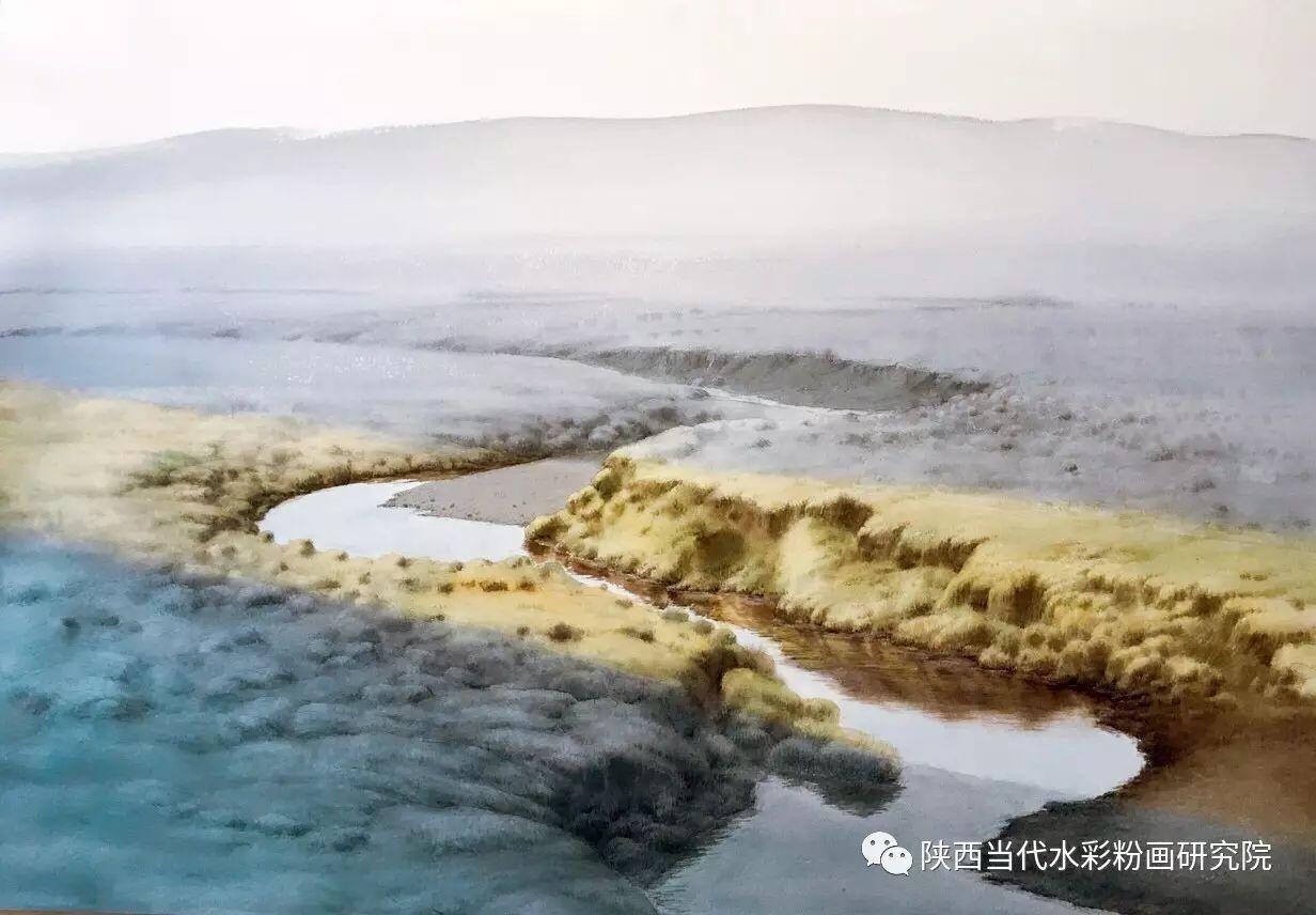 李刚(乌日根•达赉)作品   内蒙古艺术家水彩画作品专题微展第30集(总第1128期) 第10张