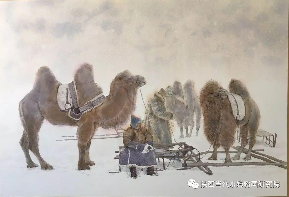 李刚(乌日根•达赉)作品   内蒙古艺术家水彩画作品专题微展第30集(总第1128期) 第12张