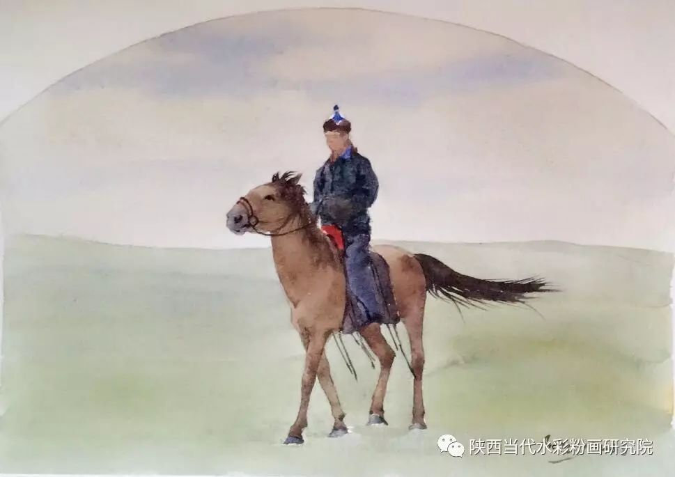李刚(乌日根•达赉)作品   内蒙古艺术家水彩画作品专题微展第30集(总第1128期) 第13张