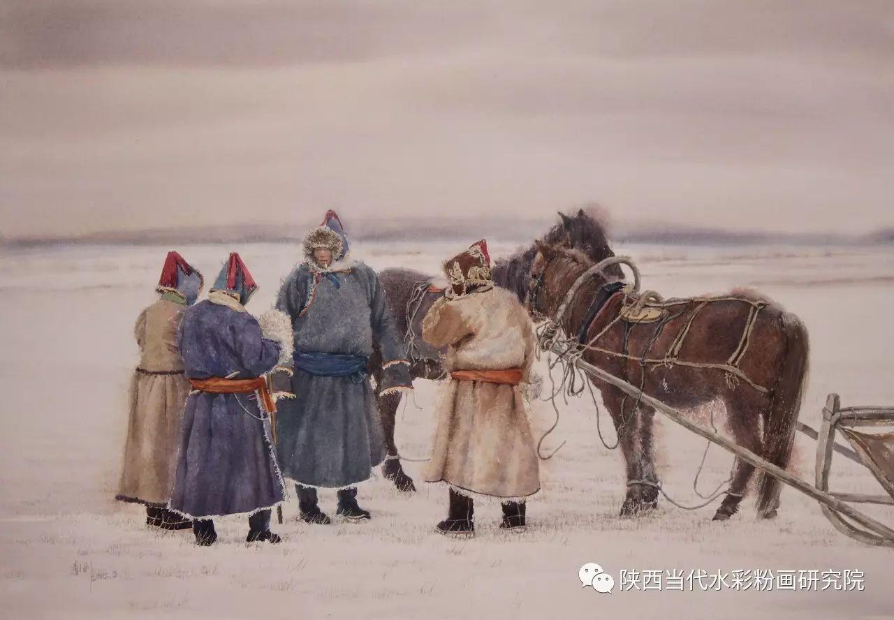 李刚(乌日根•达赉)作品   内蒙古艺术家水彩画作品专题微展第30集(总第1128期) 第15张