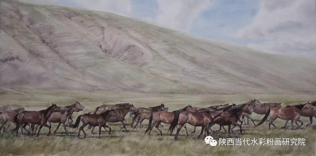 李刚(乌日根•达赉)作品   内蒙古艺术家水彩画作品专题微展第30集(总第1128期) 第17张