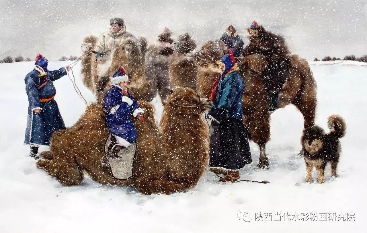 李刚(乌日根•达赉)作品   内蒙古艺术家水彩画作品专题微展第30集(总第1128期) 第18张