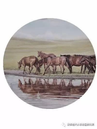 李刚(乌日根•达赉)作品   内蒙古艺术家水彩画作品专题微展第30集(总第1128期) 第19张